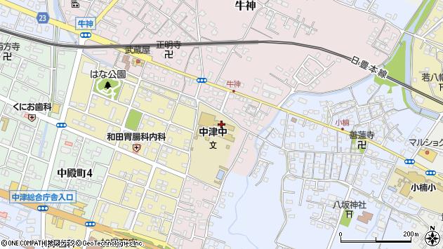 大分県中津市牛神459周辺の地図