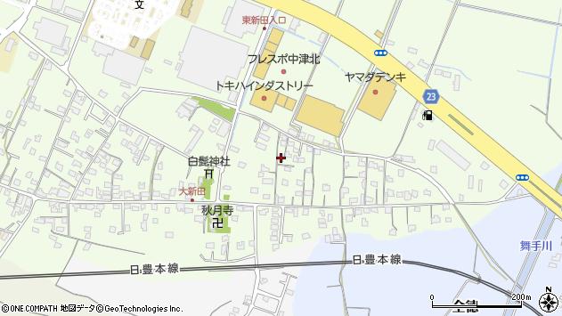 大分県中津市大新田705周辺の地図