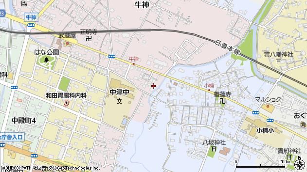 大分県中津市牛神453周辺の地図