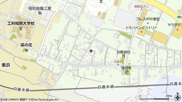 大分県中津市大新田787周辺の地図