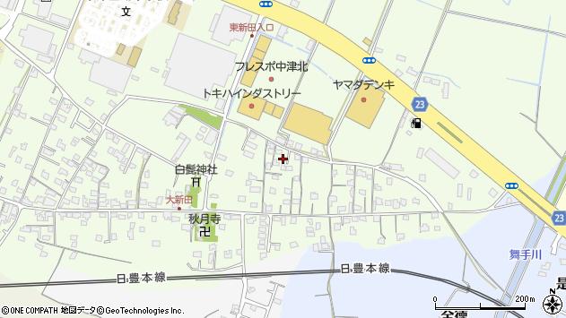 大分県中津市大新田699周辺の地図