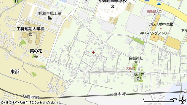 大分県中津市大新田813周辺の地図