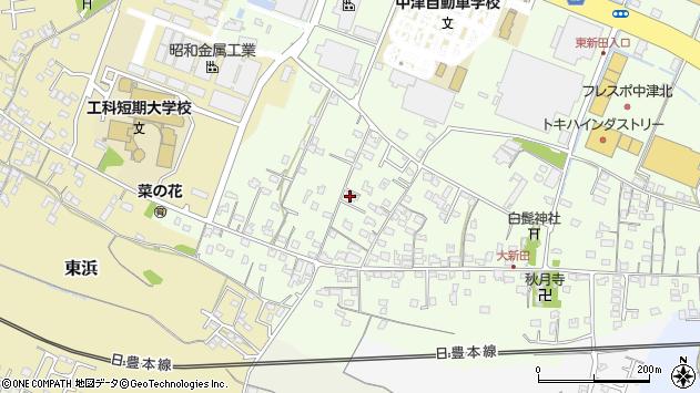 大分県中津市大新田825周辺の地図