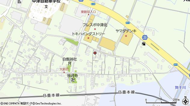 大分県中津市大新田704周辺の地図