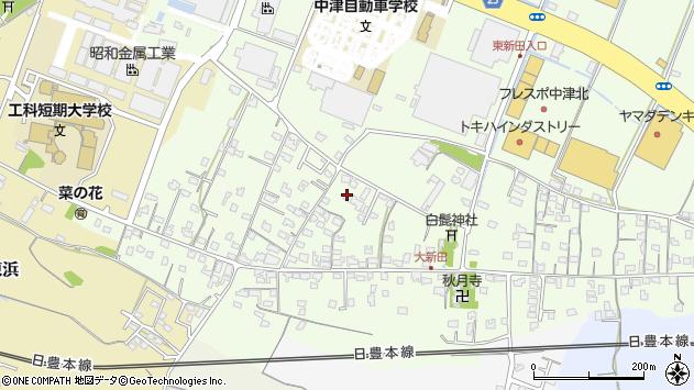 大分県中津市大新田783周辺の地図