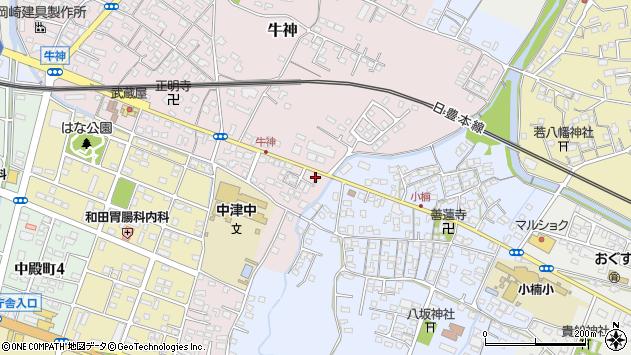 大分県中津市牛神221周辺の地図