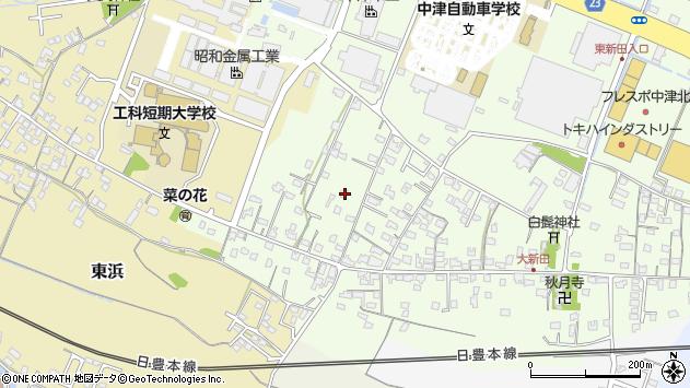 大分県中津市大新田951周辺の地図