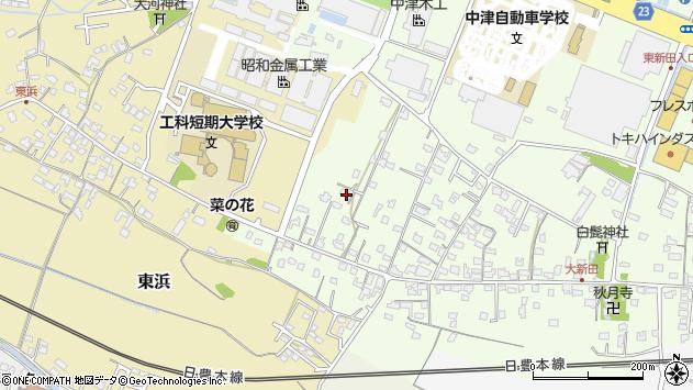 大分県中津市大新田876周辺の地図