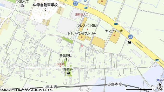 大分県中津市大新田723周辺の地図