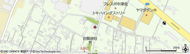 大分県中津市大新田571周辺の地図