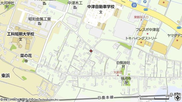 大分県中津市大新田810周辺の地図