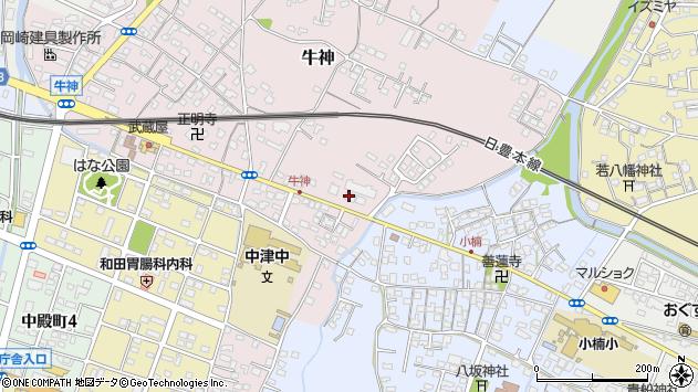 大分県中津市牛神220周辺の地図