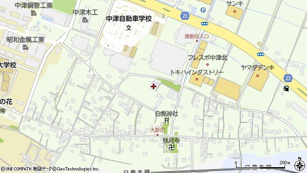 大分県中津市大新田584周辺の地図