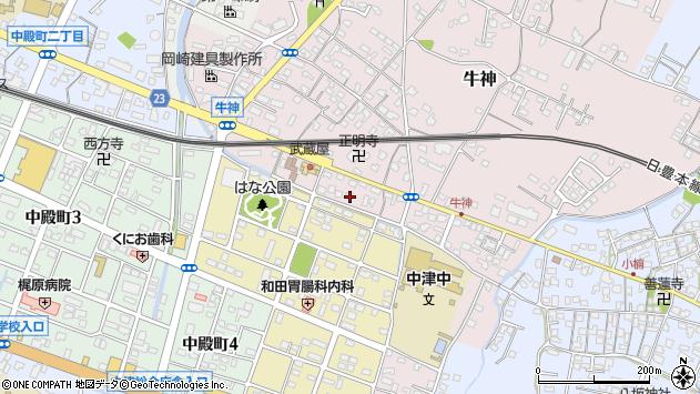 大分県中津市牛神426周辺の地図