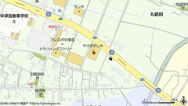 大分県中津市大新田174周辺の地図