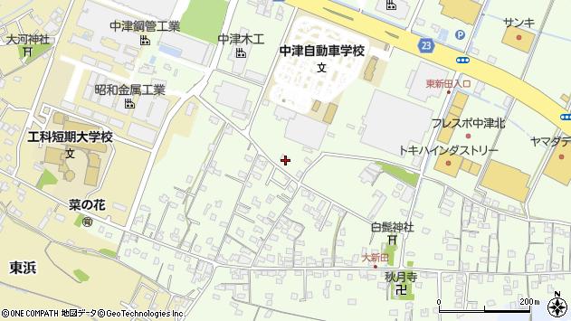 大分県中津市大新田538周辺の地図