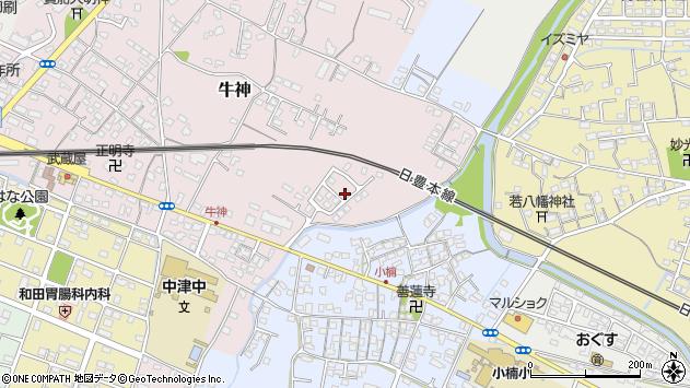 大分県中津市牛神196周辺の地図