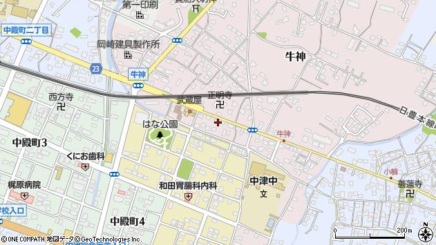 大分県中津市牛神333周辺の地図