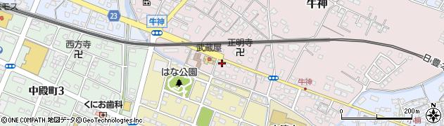 大分県中津市牛神427周辺の地図