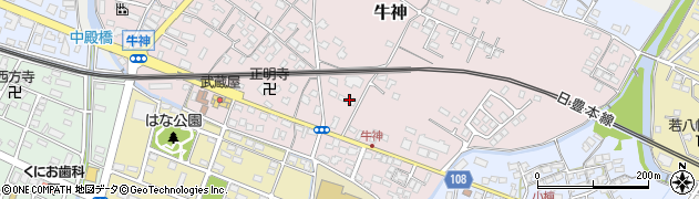 大分県中津市牛神237周辺の地図