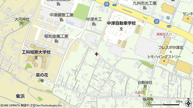 大分県中津市大新田834周辺の地図