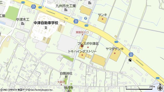 大分県中津市大新田287周辺の地図