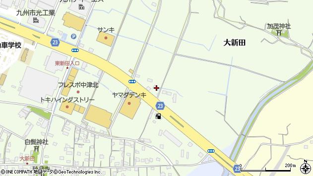 大分県中津市大新田164周辺の地図