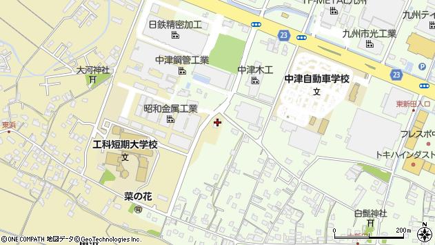 大分県中津市大新田884周辺の地図