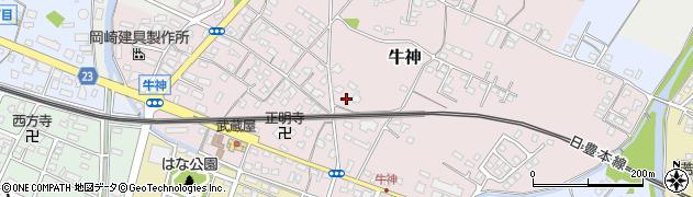 大分県中津市牛神245周辺の地図