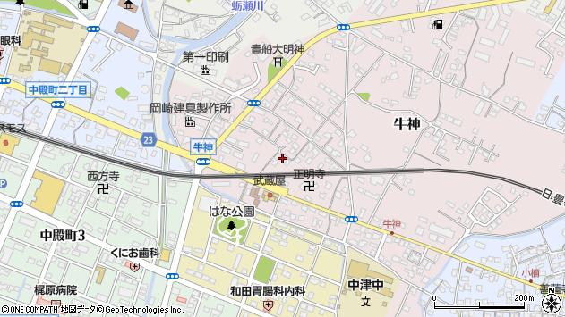 大分県中津市牛神346周辺の地図