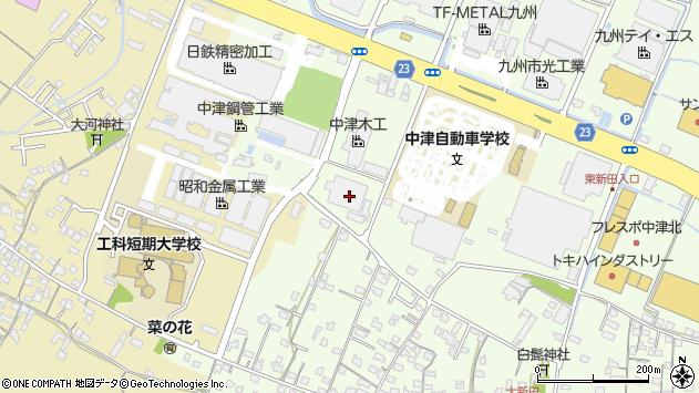 大分県中津市大新田450周辺の地図