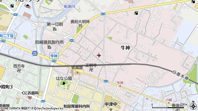 大分県中津市牛神253周辺の地図