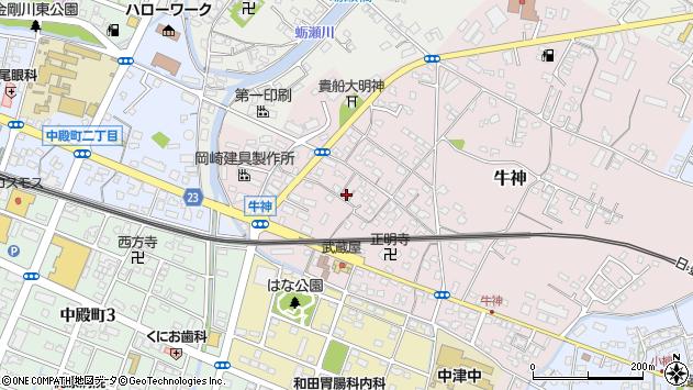 大分県中津市牛神290周辺の地図