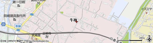 大分県中津市牛神126周辺の地図