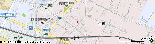 大分県中津市牛神276周辺の地図