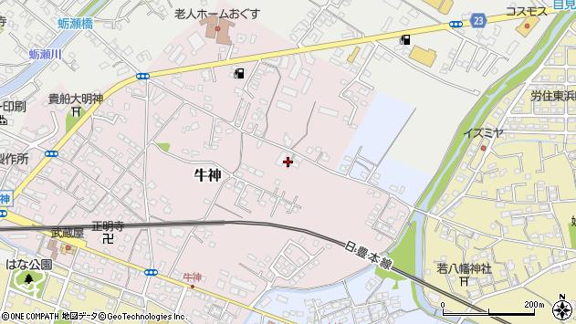 大分県中津市牛神137周辺の地図