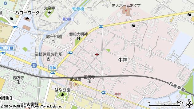 大分県中津市牛神259周辺の地図