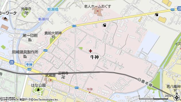大分県中津市牛神46周辺の地図