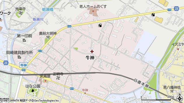大分県中津市牛神114周辺の地図