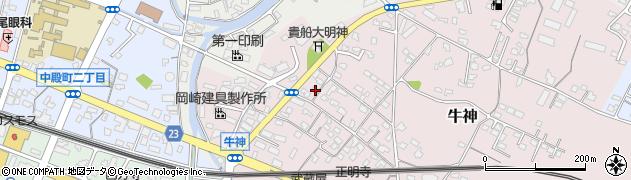大分県中津市牛神379周辺の地図