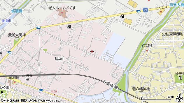 大分県中津市牛神63周辺の地図