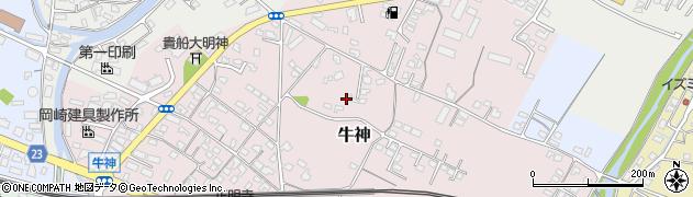 大分県中津市牛神110周辺の地図