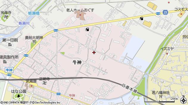 大分県中津市牛神133周辺の地図
