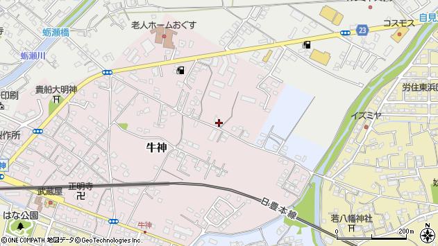 大分県中津市牛神64周辺の地図
