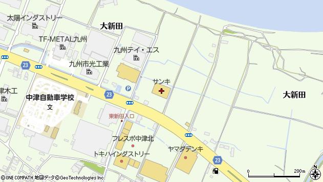 大分県中津市大新田268周辺の地図