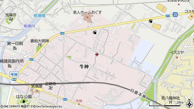 大分県中津市牛神132周辺の地図