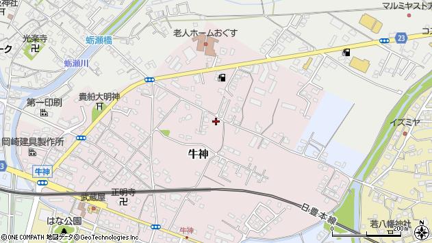 大分県中津市牛神130周辺の地図