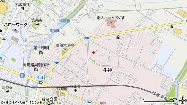 大分県中津市牛神97周辺の地図