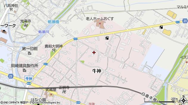 大分県中津市牛神93周辺の地図