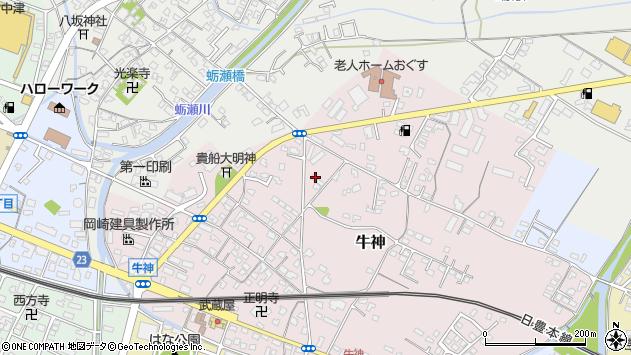 大分県中津市牛神100周辺の地図